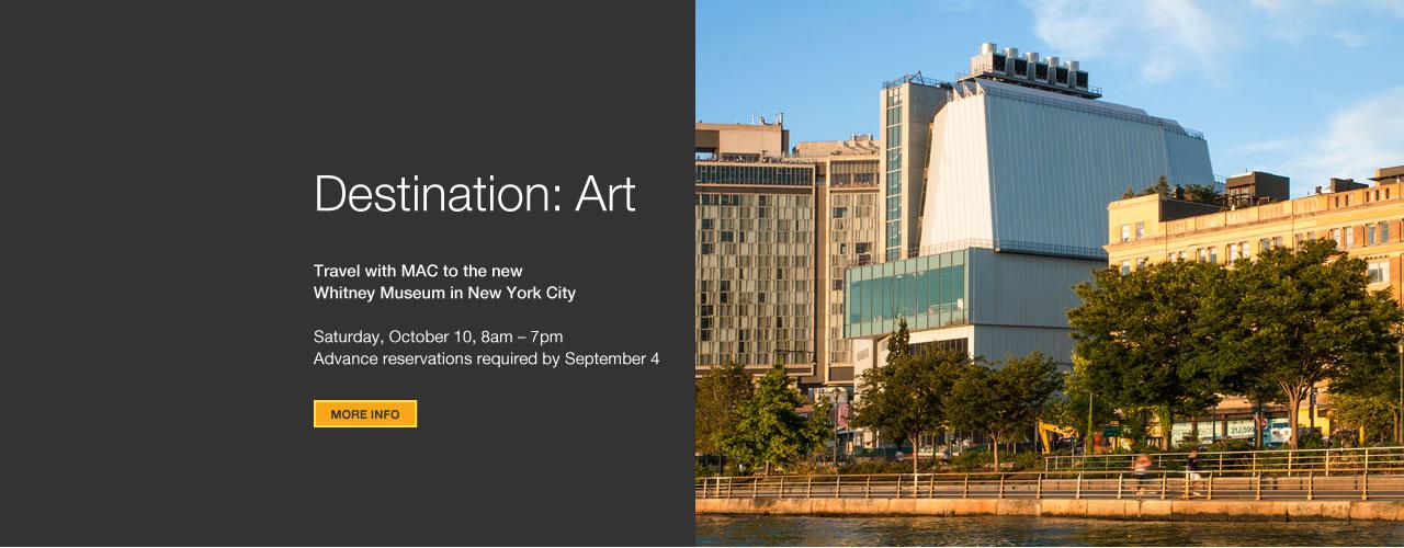 Destination: Art – Whitney Museum Hero